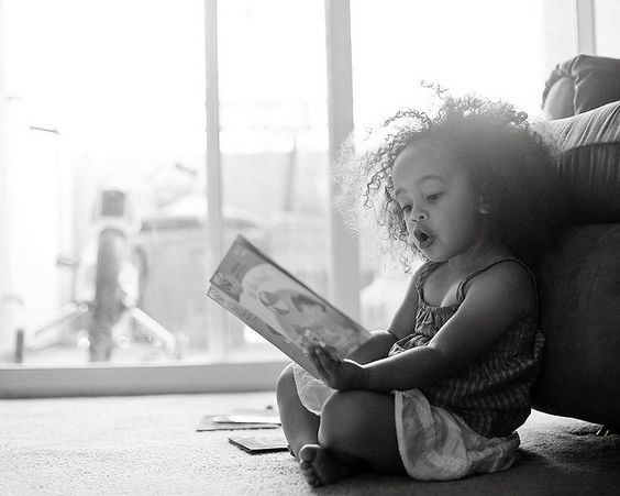Nothing more beautiful than a child reading.  <3 <3 <3