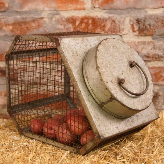 Small Wire Mesh Container | Wire Canister | Canister with Lid | Unique Canisters