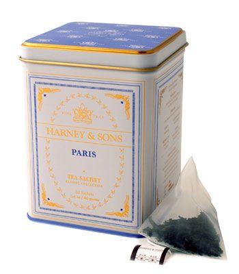 Harney & Sons Paris tea has vanilla and caramel flavors and a bit of bergamot.: