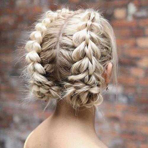 French Braid Styles For Short Hair Weddinghairwithveil In 2020 French Braid Short Hair Braids For Short Hair Thick Hair Styles