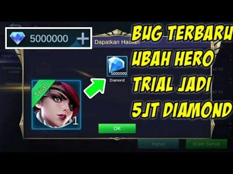 Kode Rahasia Cara Ubah Hero Trial Jadi Diamond Mobile Legend Bug Youtube Mobile Legends Miya Mobile Legends Bruno Mobile Legends