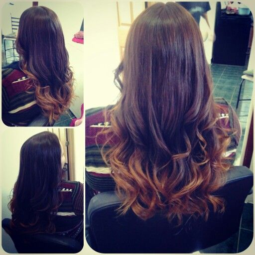 Chocolate Brown hair color w/ caramel ombre