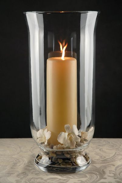 Hurricane Vase Clear Glass And Hurricane Candle On Pinterest