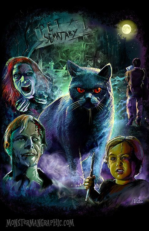 Pet Sematary Horror T Shirt Design By Scott Jackson Horror Art Pet Sematary Horror Movie Art