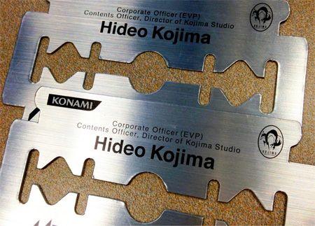Razor Business Card  Dangerous business card of Hideo Kojima, creator of Metal Gear games.
