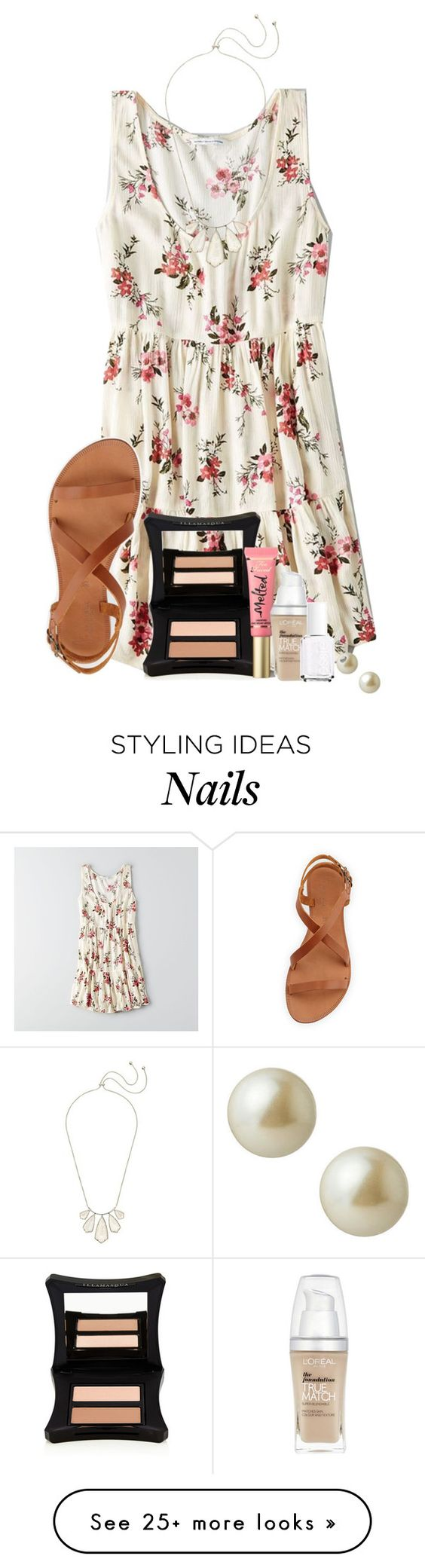 """""""CANT WAIT UNTIL THE NEW ROMANTICS VIDEO COMES OUT!!!"""" by ellababy13 on Polyvore featuring American Eagle Outfitters, Joie, Illamasqua, Too Faced Cosmetics, L'Oréal Paris, Essie, Carolee and Kendra Scott"""