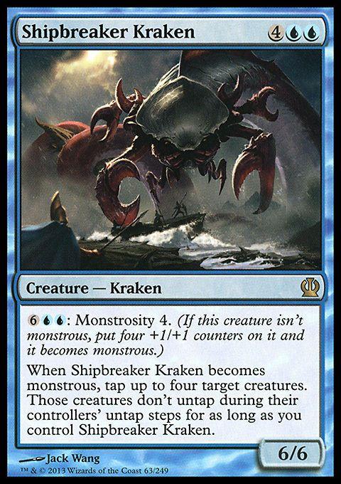 SHIPBREAKER KRAKEN Magic Theros RARE mtg m//nm