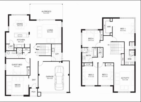 Two Storey House Floor Plan Designs Philippines Two Storey House