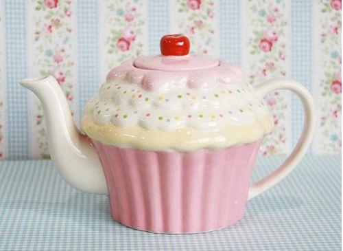Cupcake teapot: Cute Cupcakes, Pink Cupcake, Cupcake Teapot, Things Cupcake, Tea Pot, Cup Cake, Teapots Teacups