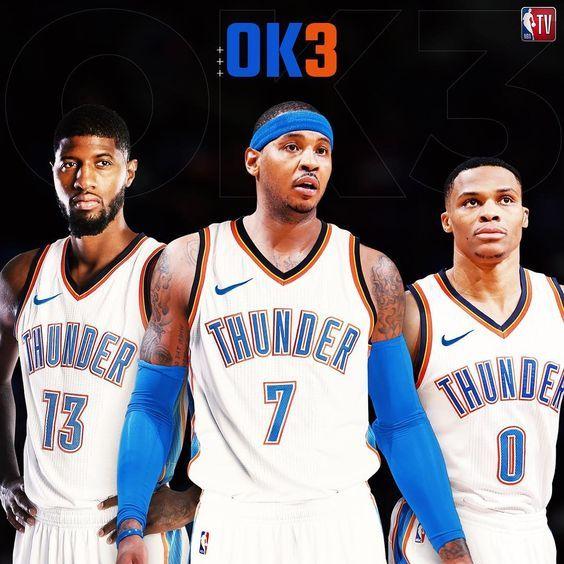 Introducing The Ok3 Ok3 Okc Thunder Thunder Players Okc Basketball