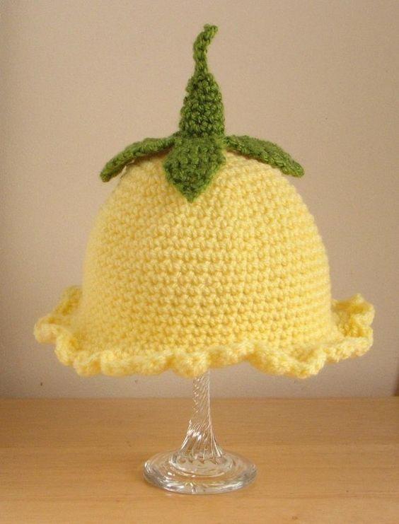 Crochet Pattern For Flower Fairy Primrose Hat : Crochet Pattern for Flower Fairy Primrose Hat in 4 sizes ...