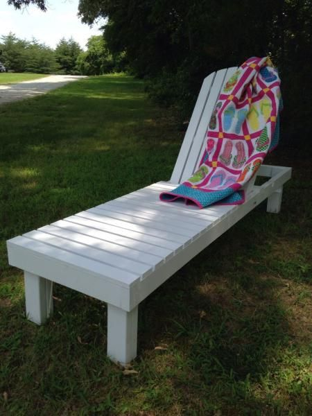 Wood chaise lounges do it yourself home projects from for Ana white chaise lounge