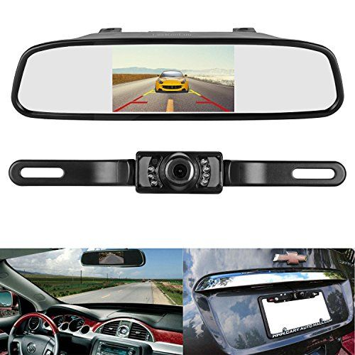 """Wired Reverse Car Backup Camera With 4.3/"""" Rear View Mirror Monitor Kit Night UR"""