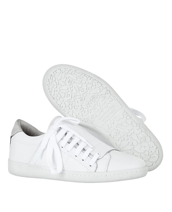 Sneakers slash de piel blancas TIRGULE - Color BLANC Follow In A Circle for more content to pin: www.inacircle.co