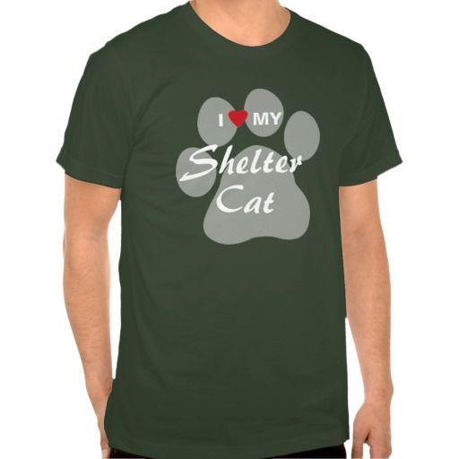 I Love (Heart) My Shelter Cat T Shirt, Hoodie Sweatshirt
