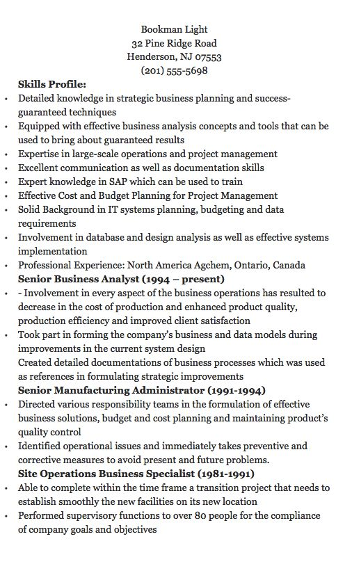 Agile Business Analyst Resume Objectives -    resumesdesign - agile business analyst resume