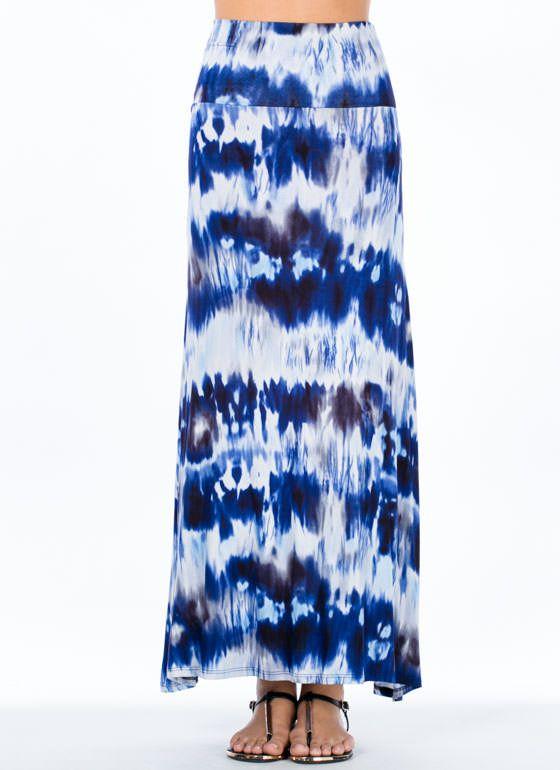 Hope 2 Tie-Dye Maxi Skirt BLUE