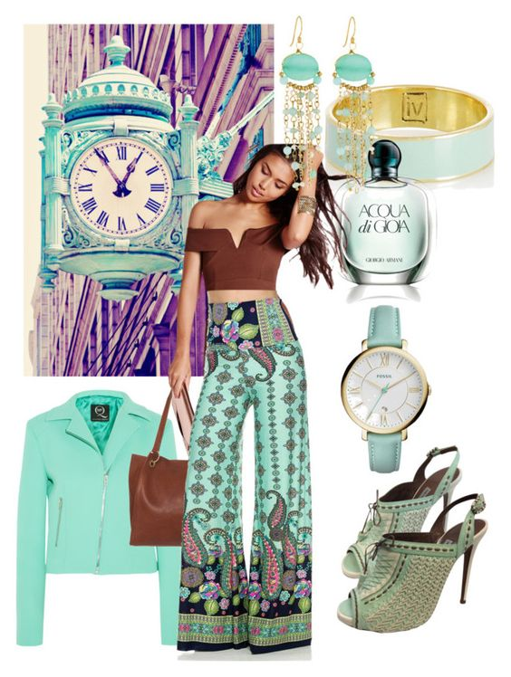 """Chocolate Mint"" by geewhizart ❤ liked on Polyvore featuring McQ by Alexander McQueen, Inez & Vinoodh, Giorgio Armani, Urban Originals, Missguided, Panacea, FOSSIL and Tabitha Simmons"