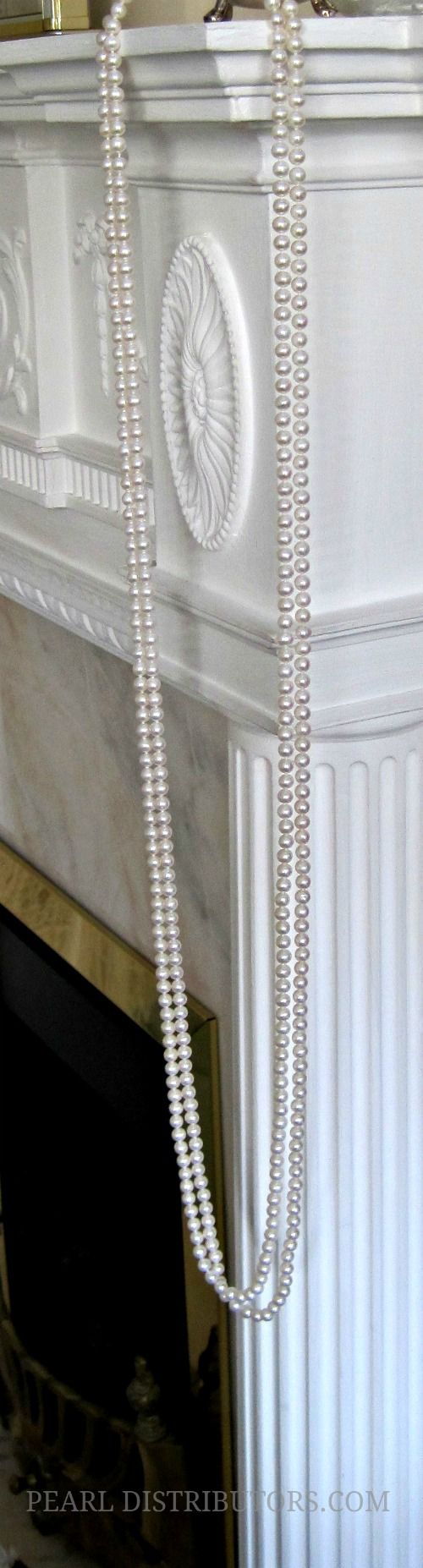 Pearls on fireplace #pearls