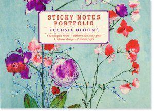 Fuchsia Blooms Sticky Notes Portfolio, Stationery, Sticky Notes Portfolios, Peter Pauper Press