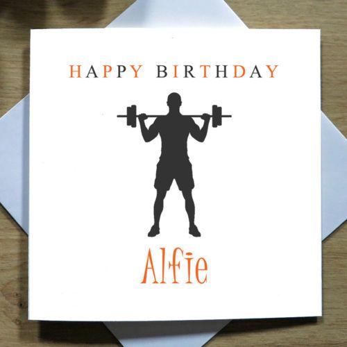Personalised Handmade Birthday Card Him Dad Husband Son Gym Bodybuilder Ebay Dad Birthday Card Husband Birthday Card Birthday Cards For Son