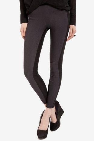 Contrast Color Leggings $52 at www.tobi.com
