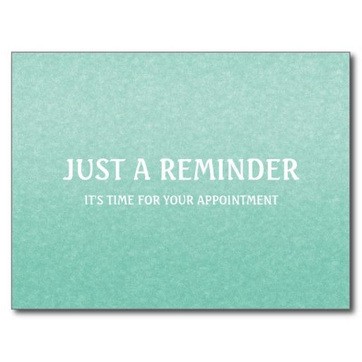 a simple and chic mint green and white appointment reminder postcard with an elegant grain gradient chic mint teal office