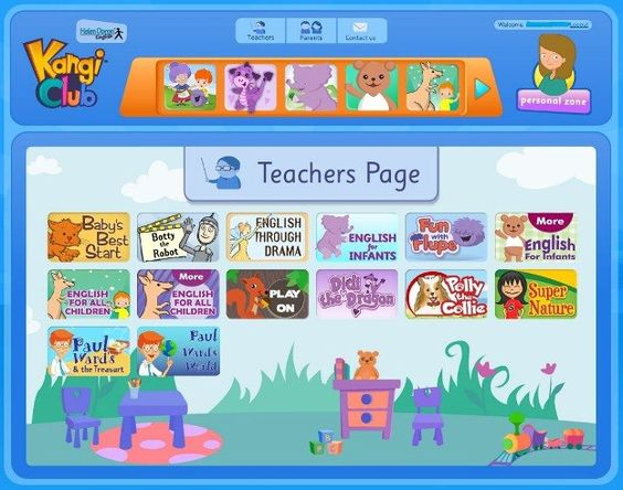 Did you know that the new Kangi club upgrades also include a dedicated Teachers Page? The Teachers Page allows the Kangi activities to be used as in-class tools, via an electronic whiteboard or a projector hooked up to your computer. It's a great teaching resource, and the kids will love it.
