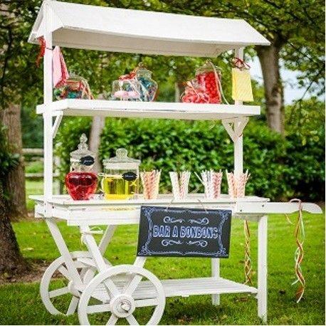 charrette candy bar chariot sur roulette d coration c r monie mariage anniversaire. Black Bedroom Furniture Sets. Home Design Ideas