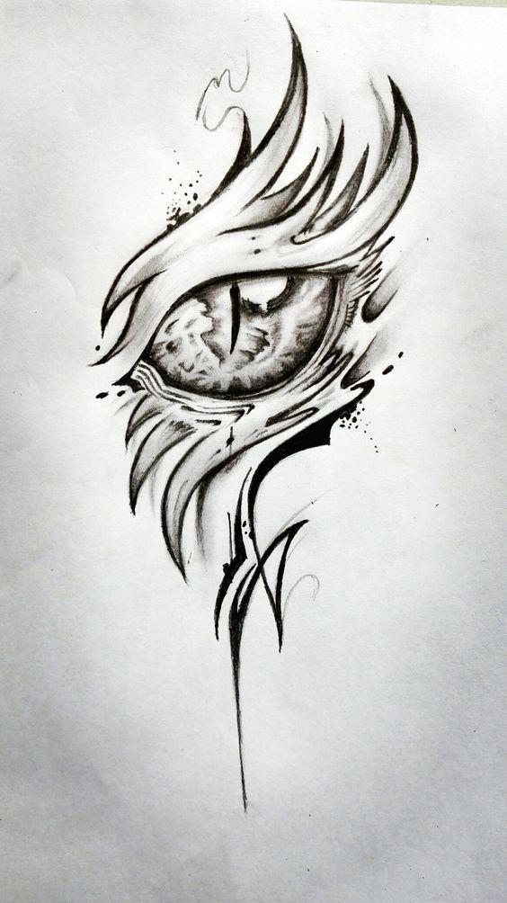 44 Uniquely Tattoo Ideas For Women Dragon Eye Drawing Floral Tattoo Design Eye Drawing