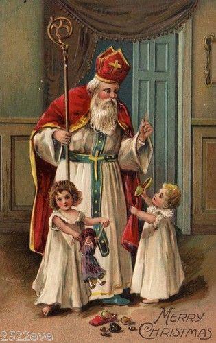 vintage Kerstkaart,Tja Sinterklaas die hoort er toch echt wel bij , lb xxx.QQQ