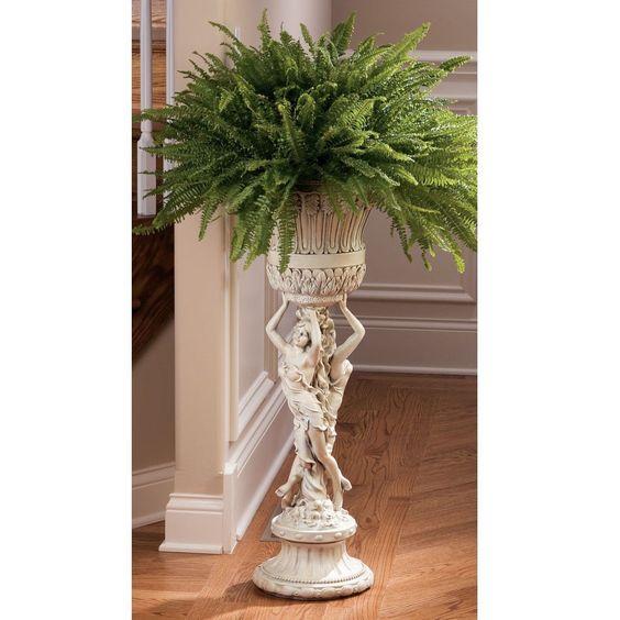 Pedestal Plant Stands Indoor #19: Indoor Plant Stand French Sculptural Art Patio Furniture Display Pedestal Stand | EBay