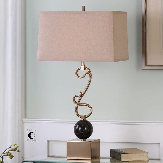 "Bukittinggi 30.75"" H Table Lamp with Rectangular Shade"