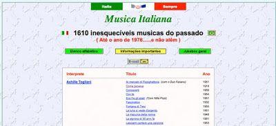 Músicas Italianas Antigas, com Letras e Tradução