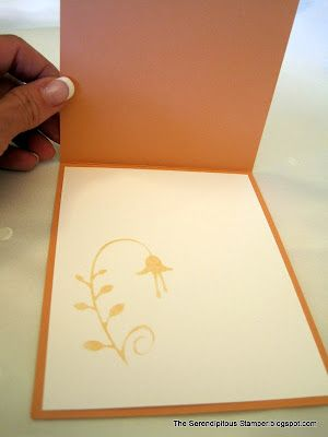 After die cutting, save the negative image to sponge it onto the inside of the card or onto the envelope