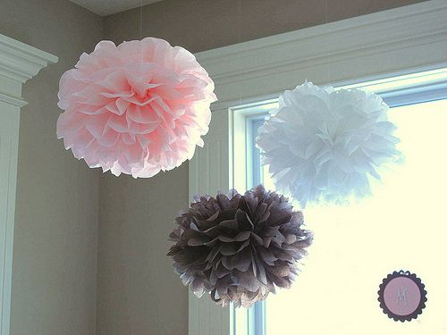 Tissue Paper Balls-Perfect party decoration. So pretty and so easy to make.