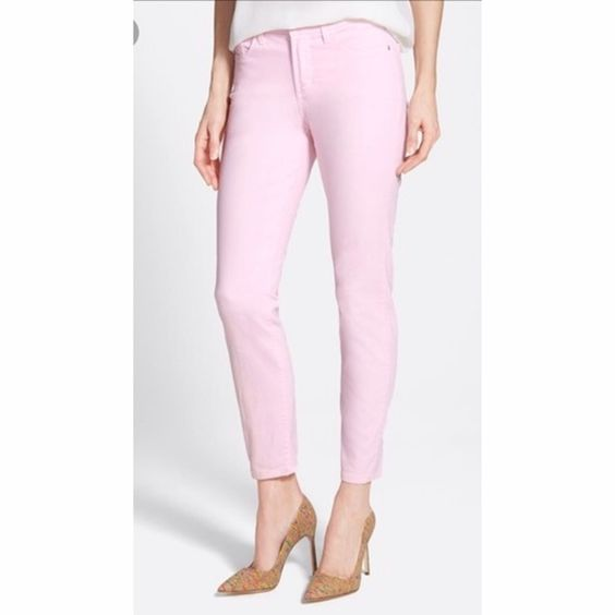"""NYDJ pink ankle pants Pink ankle pants from Not Your Daughters Jeans. Inseam measures 29"""", waist measures 18.5"""" across rise is 11"""". 97% cotton and 3% elastane NYDJ Pants Ankle & Cropped"""