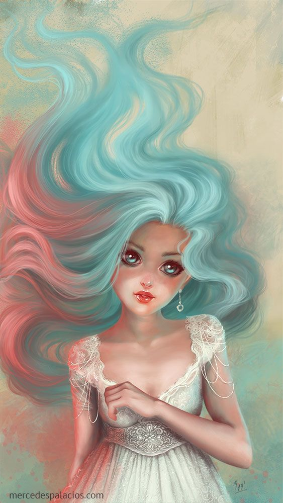Colorfull  © Mercedes Palacios   http://www.mercedespalacios.com/  #illustration #fantasy
