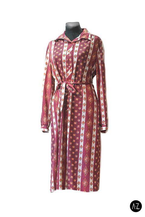 Vestido vintage tonos bordo #fashion