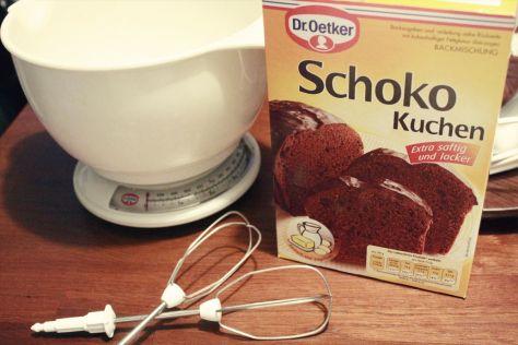 Schoko Kuchen Backmischung von Dr. Oetker