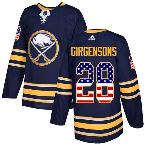Adidas Sabres #28 Zemgus Girgensons Navy Blue Home Authentic USA ...