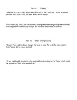 Remember the Titans Movie Worksheet | Classroom | Pinterest ...