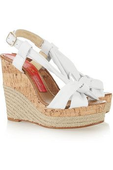 Paloma Barcelo leather wedge sandals.. £220 down to £66!