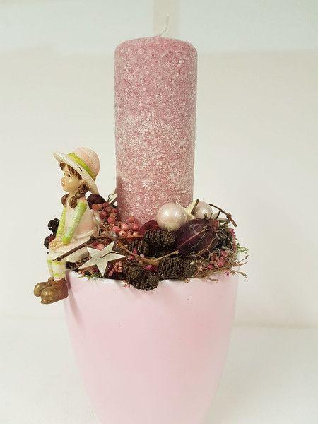 Weihnachtsdeko - Weihnachten ♥ Gesteck ♥ mit Kerze - ein Designerstück von…