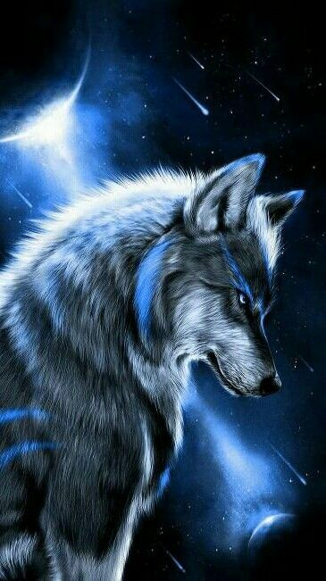 Blue Wolf Wolf Painting Wolf Spirit Animal Animal Wallpaper