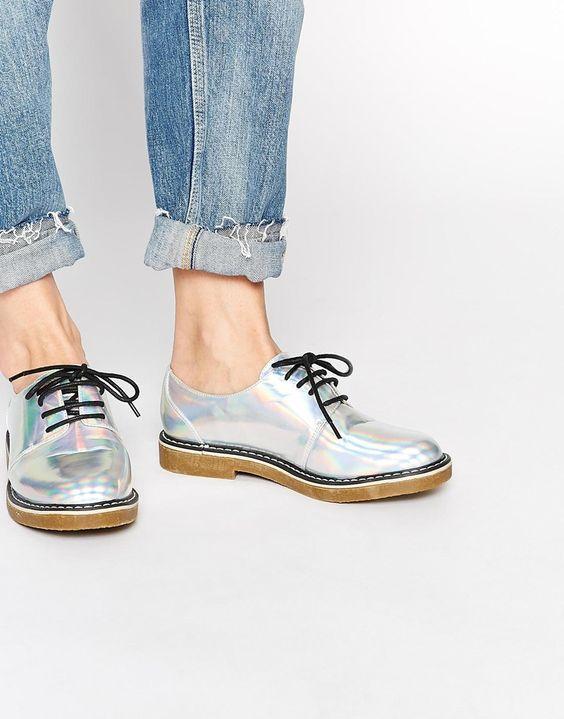 ASOS - MARK IT UP - Chaussures à lacets - holographique