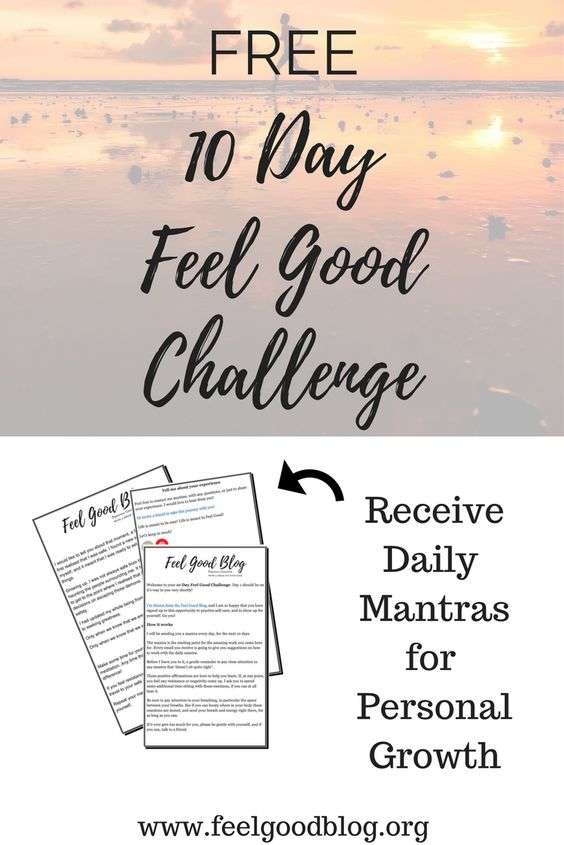 Free 10 Day Feel Good Challenge