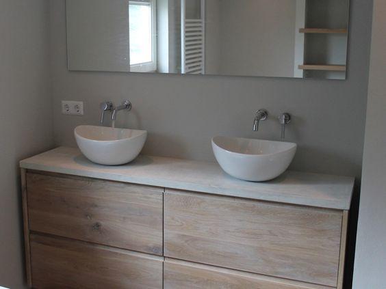 Koak ikea wastafel eiken beton 05 idee n voor het huis pinterest toilets design and cool - Badkamer beton wax ...