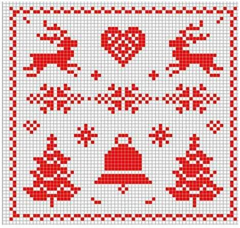 Graficos punto de cruz navidad facebook google search - Esquema punto estrella crochet ...