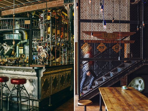 Steampunk interior design at quot truth cafe in cape town